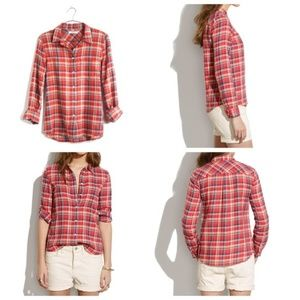 Madewell Boyshirt in Suntour Plaid